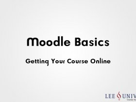 Moodle Training Workshop