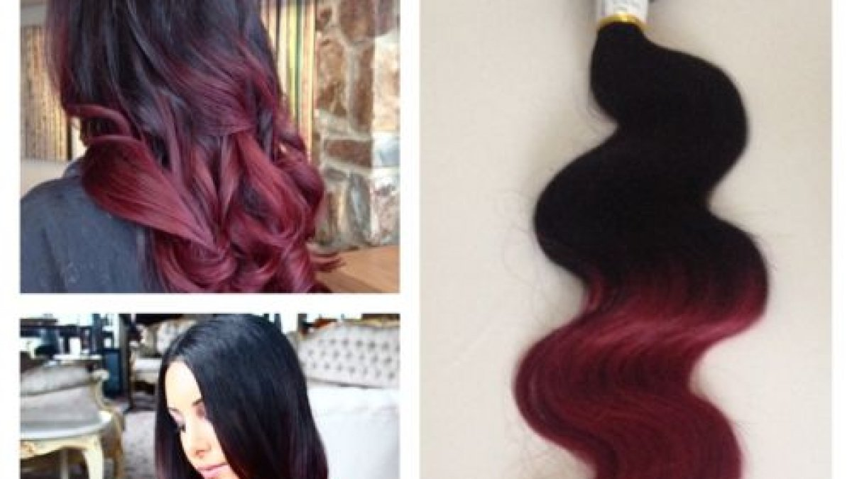 Ombre Hair Color Remy Hair Weave
