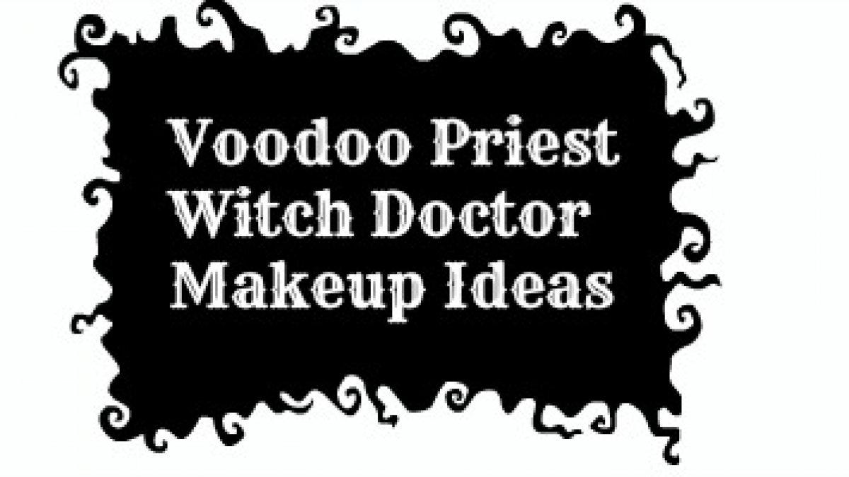 Witch Doctor / Voodoo Priest Makeup Idea